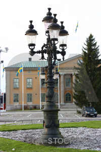Lamp post karlskrona building sweden europe.