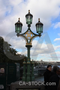 Lamp post white person.