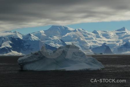 Landscape adelaide island water snow antarctic peninsula.