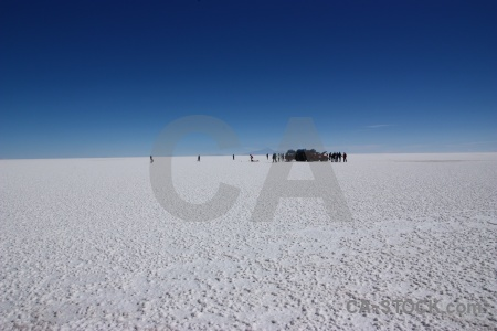 Landscape altitude salt flat salar de uyuni andes.