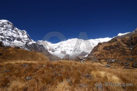 Landscape annapurna nepal himalayan valley.