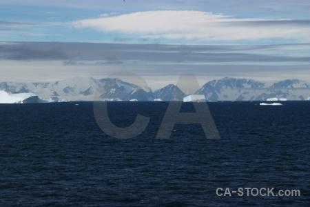 Landscape antarctic peninsula sea snow day 5.