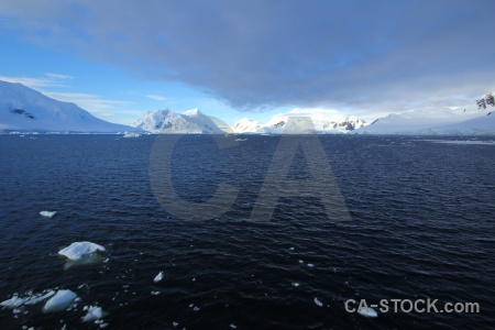 Landscape antarctica cruise water sea ice mountain.