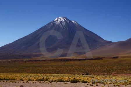 Landscape atacama desert licancabur altitude chile.