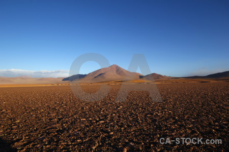 Landscape blue brown desert.