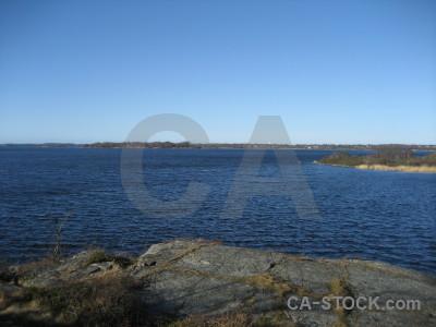 Landscape blue coast.