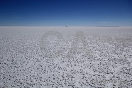 Landscape bolivia crystal salt flat.