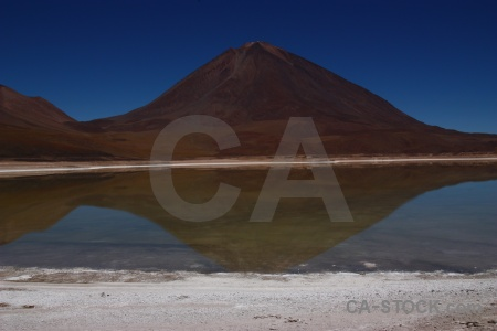 Landscape bolivia water andes mountain.