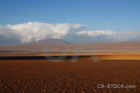 Landscape brown desert blue.