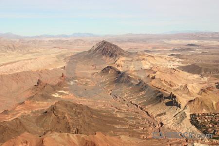 Landscape brown mountain desert rock.