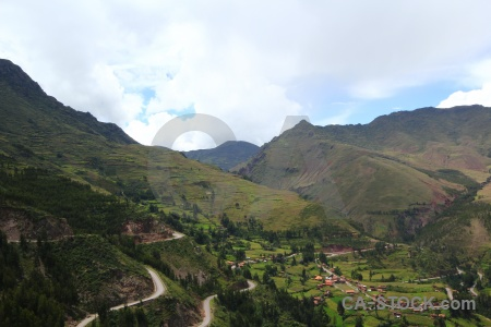 Landscape bush inca south america pisac.