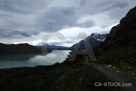 Landscape chile water sky patagonia.