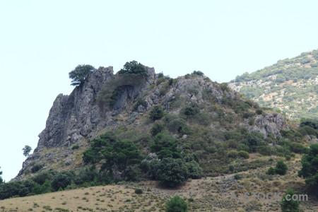 Landscape cliff white spain tree.