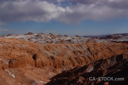 Landscape cloud valley of the moon atacama desert valle de la luna.