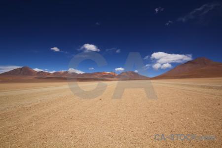 Landscape desert brown blue.