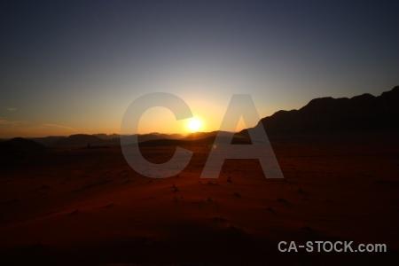 Landscape desert sunrise sun bedouin.