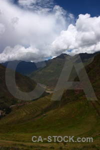 Landscape grass terrace pisac bush.