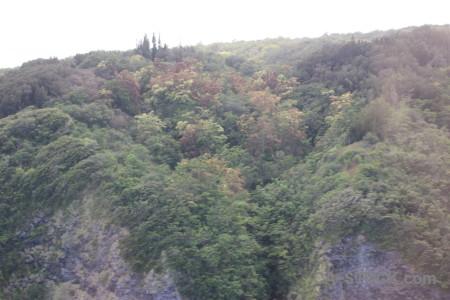 Landscape gray white mountain.