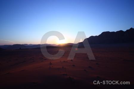 Landscape jordan asia rock sky.