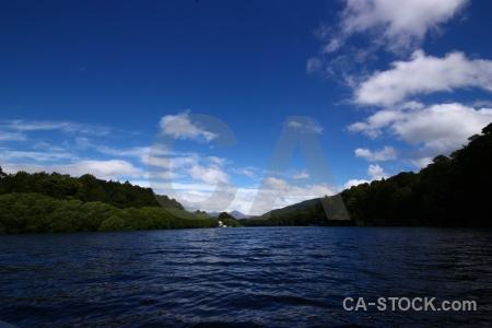 Landscape manapouri waiau river sky new zealand.