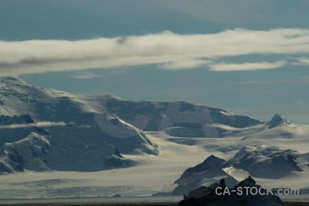 Landscape marguerite bay snow sky snowcap.