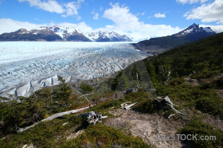 Landscape mountain patagonia glacier trek.