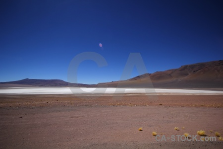 Landscape mountain salt flat altitude andes.