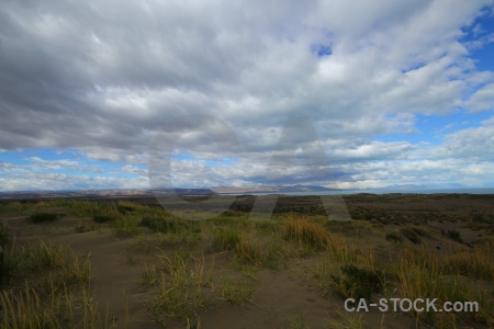 Landscape patagonia lago argentino grass lake.