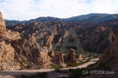 Landscape rock valley calchaqui quebrada de las flechas.