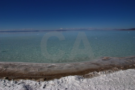 Landscape salar de uyuni south america water andes.