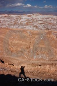 Landscape salt desert cloud cordillera de la sal.