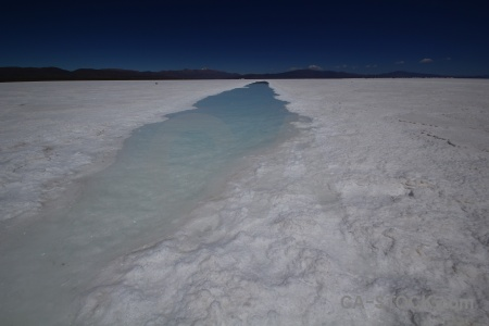 Landscape salt flat water altitude pool.