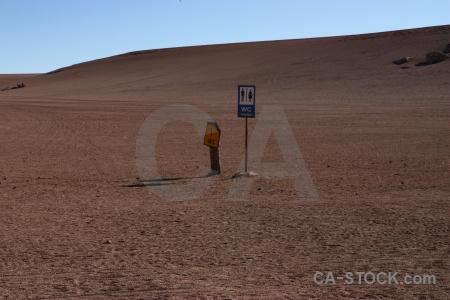 Landscape sand siloli desert altitude andes.
