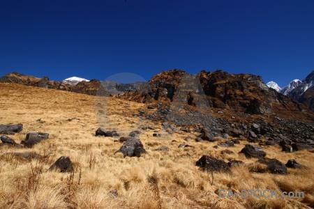 Landscape sky annapurna sanctuary trek snowcap nepal.