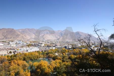 Landscape sky tibet china building.