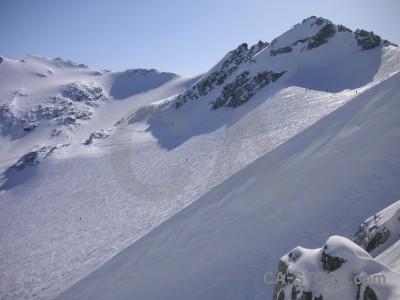 Landscape snow mountain.