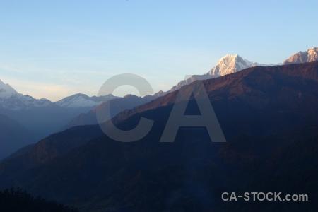 Landscape snowcap nepal ghoreapani south asia.
