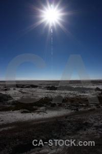 Landscape south america altitude salt flat sky.