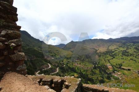 Landscape stone sacred valley ruin mountain.