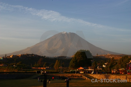 Landscape stratovolcano mountain volcano tree.