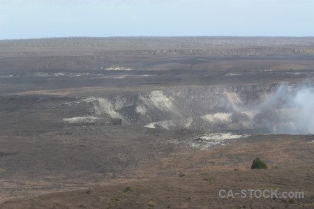 Landscape volcanic gray crater.