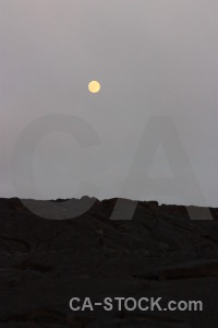 Landscape volcanic gray moon.