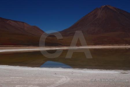 Landscape volcano andes water licancabur.