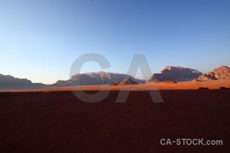 Landscape wadi rum sand middle east desert.