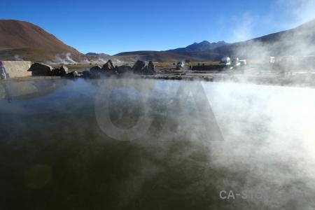 Landscape water mountain pool steam.