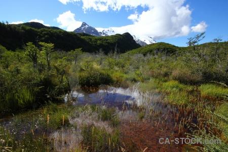Landscape water snowcap sky argentina.