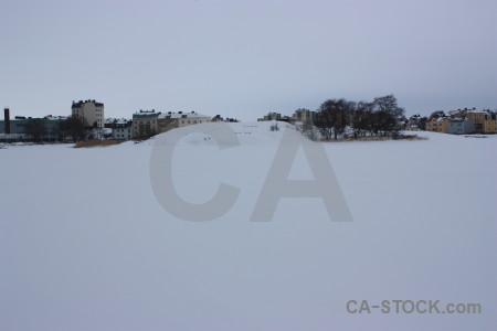 Landscape winter snow.