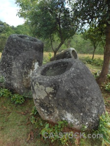 Laos lichen stone phonsavan plain of jars.