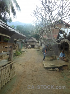 Laos village asia khmu building.