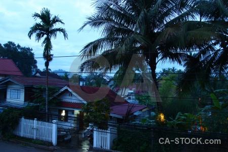 Laos wire building luang prabang sky.